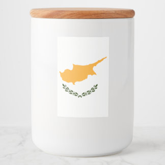 Cyprus Flag Food Label