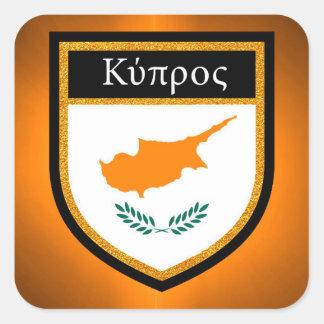 Cyprus Flag Square Sticker