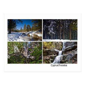 Cyprus Landscape Troodos mountains winter Postcard