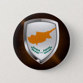 Cyprus Metallic Emblem 2 Inch Round Button