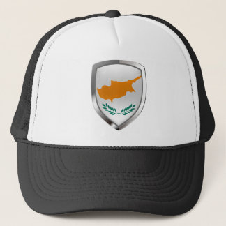 Cyprus Metallic Emblem Trucker Hat