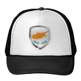 Cyprus Metallic Emblem Trucker Hat