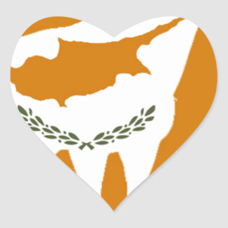 CYPRUS NATIONAL RAM HEART STICKER