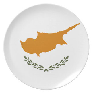 Cyprus National World Flag Dinner Plate