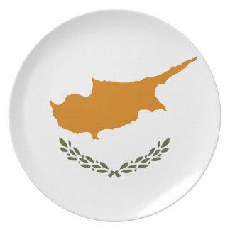Cyprus National World Flag Plate