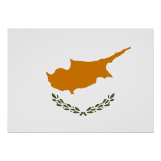 Cyprus National World Flag Poster