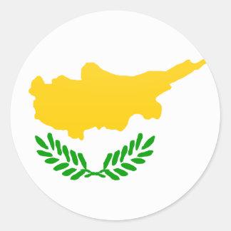 Cyprus quality Flag Circle Classic Round Sticker