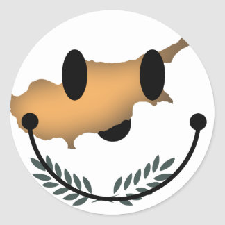 Cyprus Smiley Classic Round Sticker