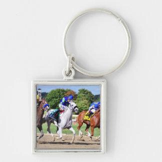 Cyrus Alexander, Mr.Jordan & Res Judicata Silver-Colored Square Keychain