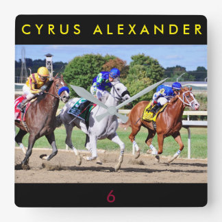 Cyrus Alexander, Mr.Jordan & Res Judicata Square Wall Clock