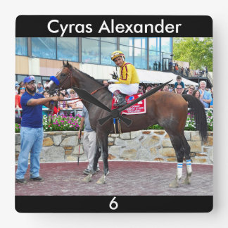 Cyrus Alexander-R.Bejarano Square Wall Clock
