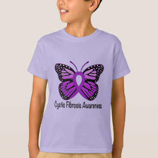 Cystic Fibrosis Awareness with Butterfly T-Shirt
