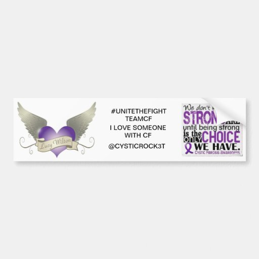 cystic fibrosis bumper sticker