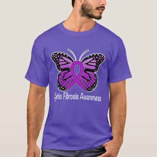 Cystic Fibrosis Butterfly Awareness Ribbon T-Shirt