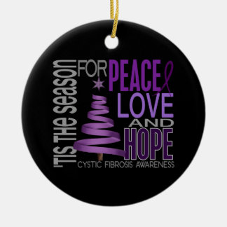 Cystic Fibrosis Christmas 1 Ornaments