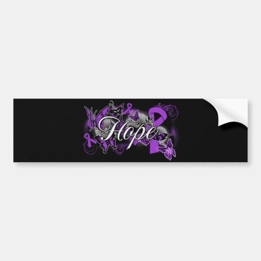 Cystic Fibrosis Hope Garden Ribbon Bumper Sticker