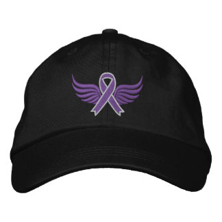 Cystic Fibrosis Ribbon Wings Embroidered Baseball Cap