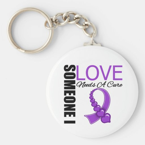Cystic Fibrosis Someone I Love Needs A Cure Key Chains