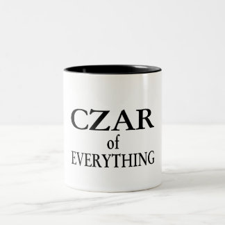 Czar of Everything Two-Tone Coffee Mug