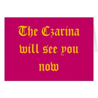 Czarina Card
