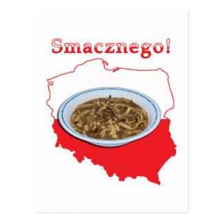 Czarnina Smacznego Polish Map Postcard