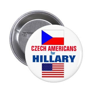 Czech Americans for Hillary 2016 2 Inch Round Button