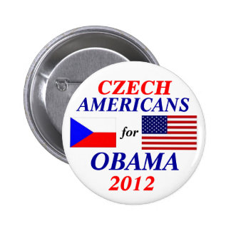 Czech americans for Obama 2 Inch Round Button