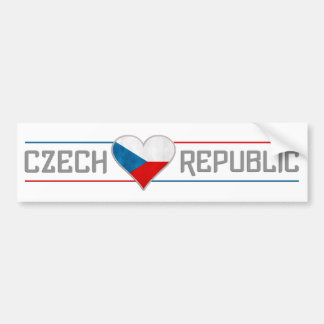 CZECH bumpersticker Bumper Sticker