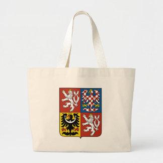 czech emblem large tote bag