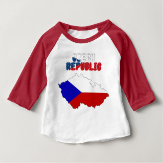 Czech flag baby T-Shirt