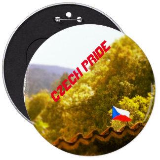 Czech Flag Czech Pride Button