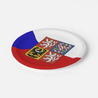 Czech flag paper plate