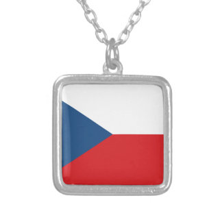 Czech Flag Silver Plated Necklace