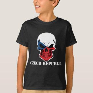 Czech Flag Skull Czech Republic T-Shirt