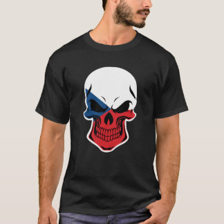 Czech Flag Skull T-Shirt