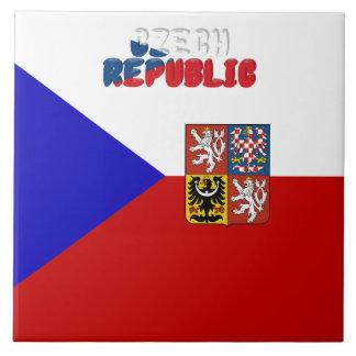 Czech flag tile