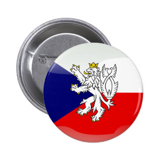 Czech glossy flag 2 inch round button