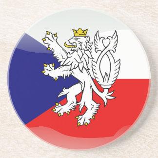 Czech glossy flag coaster