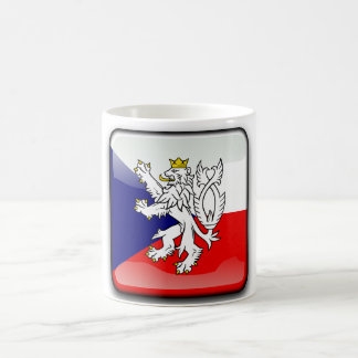 Czech glossy flag coffee mug