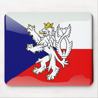 Czech glossy flag mouse pad