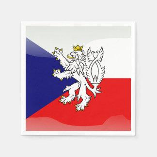 Czech glossy flag paper napkins