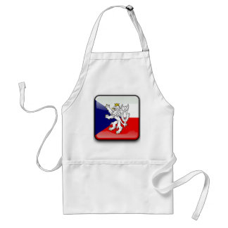 Czech glossy flag standard apron