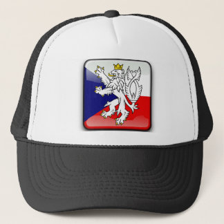 Czech glossy flag trucker hat