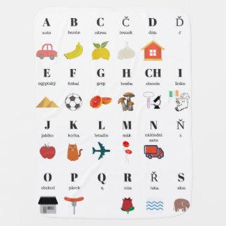 Czech Language ABC Baby Blanket
