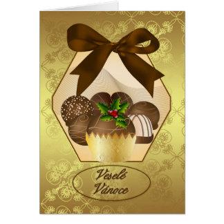Czech Luxury Chocolate Christmas Greeting Card
