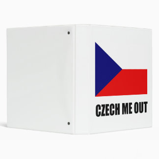 Czech Me Out 3 Ring Binder