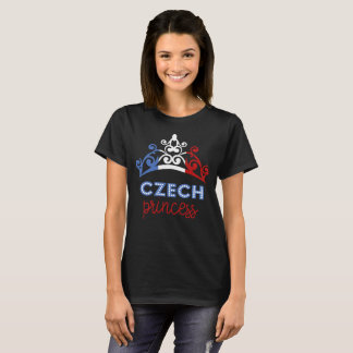 Czech Princess Tiara National Flag T-Shirt