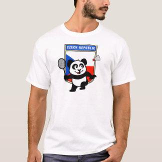 Czech Republic Badminton Panda T-Shirt