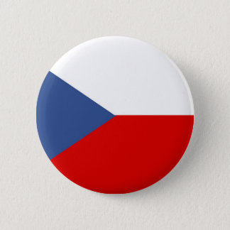 czech republic country long flag nation symbol 2 inch round button