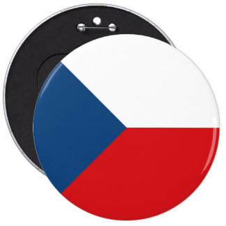 Czech Republic Flag 6 Inch Round Button